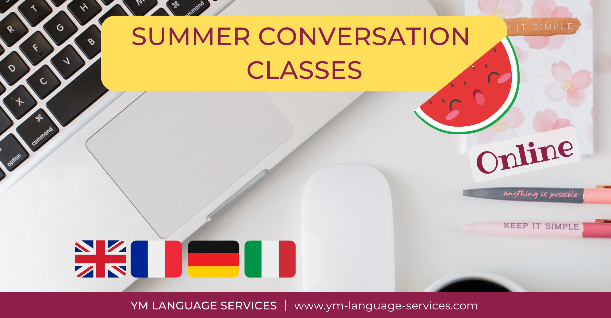 SUMMER CONVERSATION CLASSES website